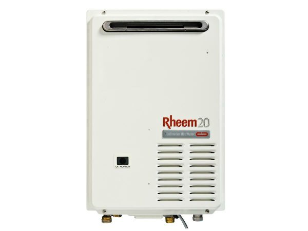 Rheem 20L Natural Gas 50 Degree Continuous Flow Hot Water System